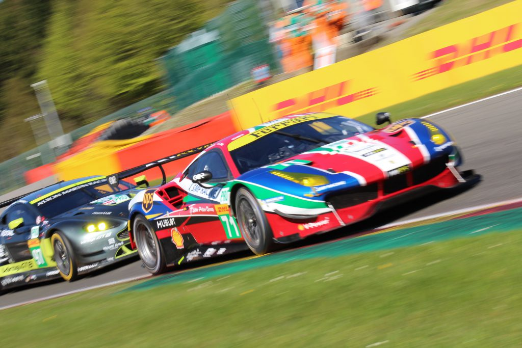 AF Corse #71, Sam Bird, Davide Rigon - Aston Martin Racing #97, Fernando Rees, Richie Stanaway, Jonny Adam Photo: JJ Media