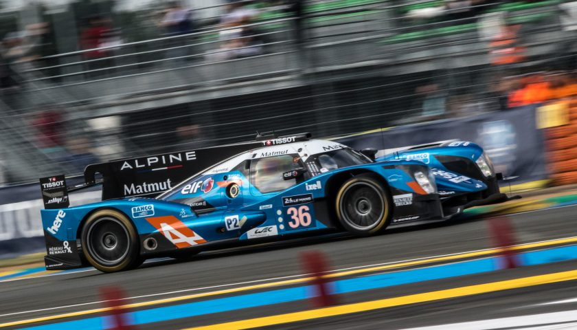#36 SIGNATECH ALPINE (FRA) / DUNLOP / ALPINE A460 - NISSAN / Gustavo MENEZES (USA) / Nicolas LAPIERRE (FRA) / Stéphane RICHELMI (MCO)Le Mans 24 Hour - Circuit des 24H du Mans  - Le Mans - France Photo©AdrenalMedia.com