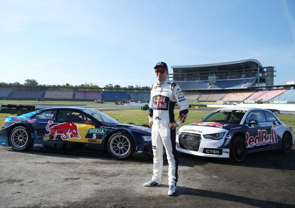 Mattias Ekström, Red Bull Audi RS 5 DTM, Audi S1 EKS RX quattro Photo: Audi