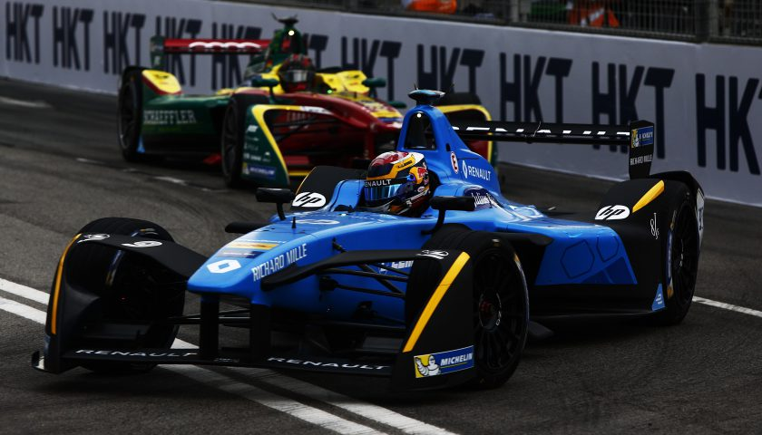 Sebastien Buemi, Lucas di Grassi Photo: FIA Formula E