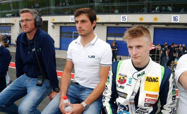 US Racing team principal Ralf Schumacher, BMW DTM driver Bruno Spengler and Jannes Fittje Photo: Burkhard Kasan/ ADAC Motorsport