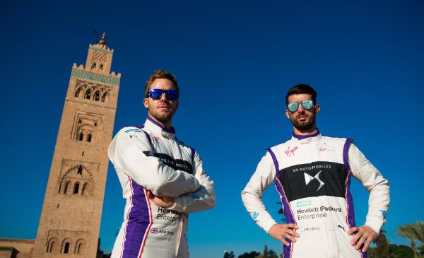 Sam Bird (left) and José María López (right) scored valuable points for their team in Marrakesh Photo: Spacesuit Media/ DS Virgin Racing